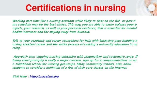 Nursing Certifications -Getting Nursing Certification