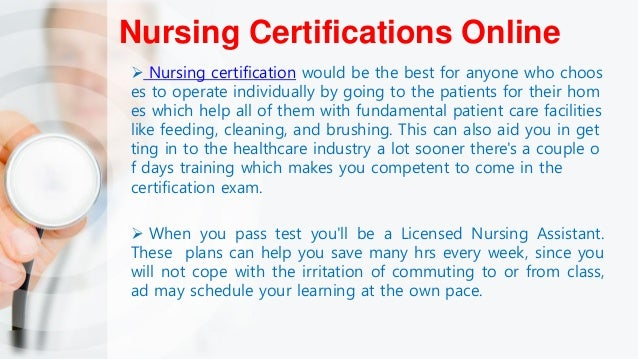 Nursing Certifications -Getting Nursing Certification