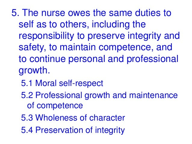 code of ethics nursing provision 6 Human rights and dignity, and taking care of the protection of environmental resources and assets duly comply with the provisions of this code of ethics.