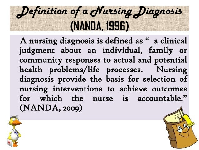 family nursing diagnoses The three-part nursing diagnosis is one of the most important aspects of the nursing process a nursing diagnosis is a statement indicating several different potential problems a patient may face.
