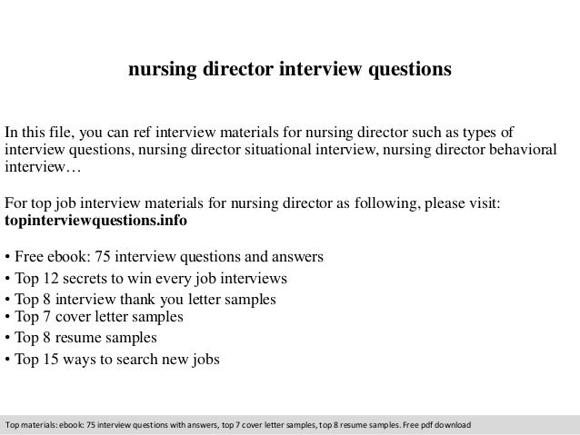 behavioral nursing interview questions and answers