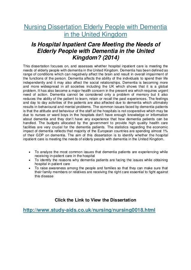 nursing dissertation