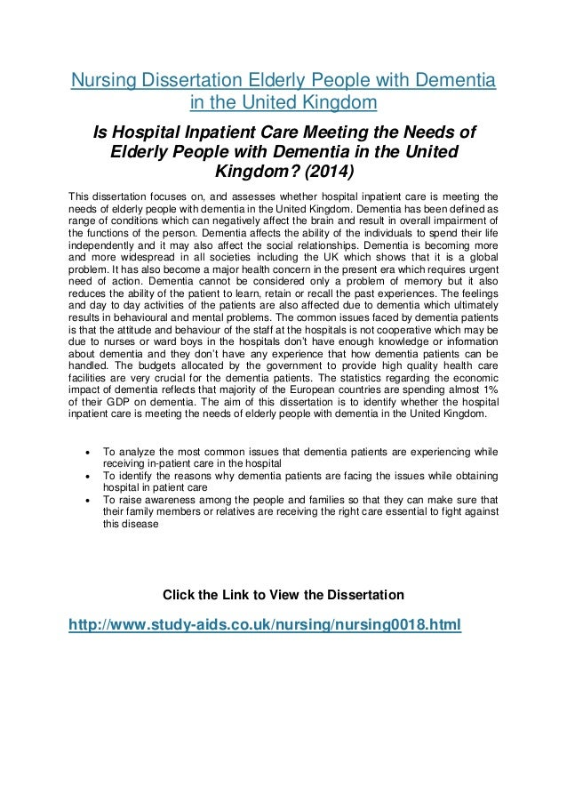 Phd thesis in nursing
