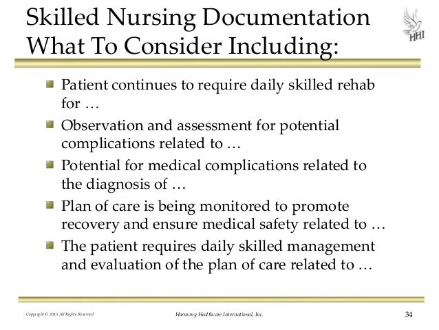 Skilled nursing charting examples documenting the long for Nursing templates for documentation