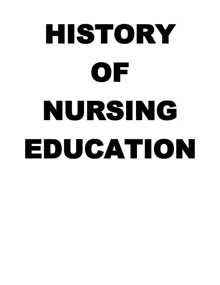 HISTORY<br />OF<br />NURSING<br />EDUCATION<br /><br />1860-Nightingale set up the first nurse training school at St. Tho...