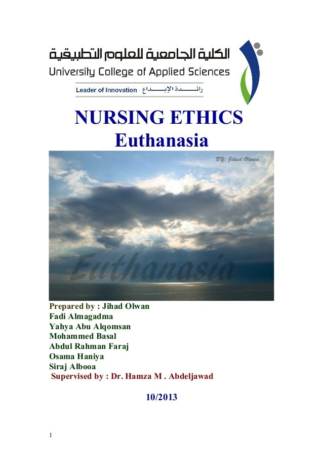 nursing ethics in euthanasia