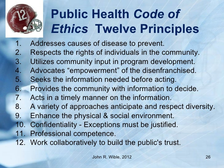 Public health ethics in practice