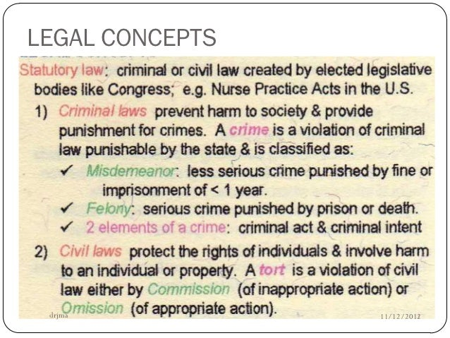 legal concepts Concept-formation is an important component of law-formation well-developed  legal orders are profoundly conceptual in nature throughout western legal.