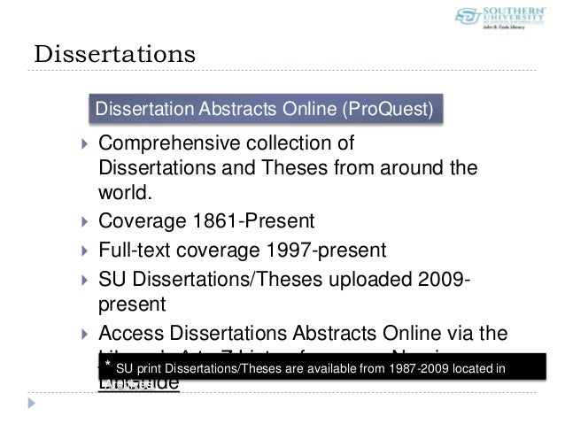 proquest dissertation abstract The abstract is likely searchable through worldcat's dissertation abstracts, and you can purchase a copy through proquest's dissertation express.