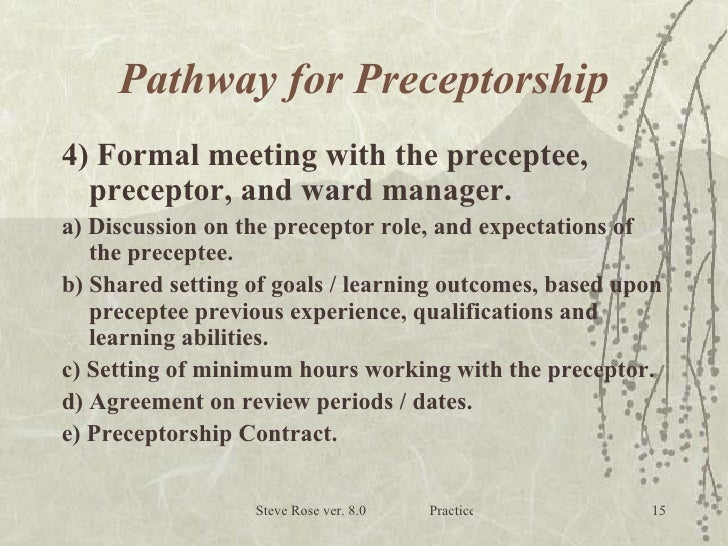nursing preceptorship Foreword by the chief nursing officer 5 nhs organisations in england and with a higher education institution this multi-professional preceptorship programme.