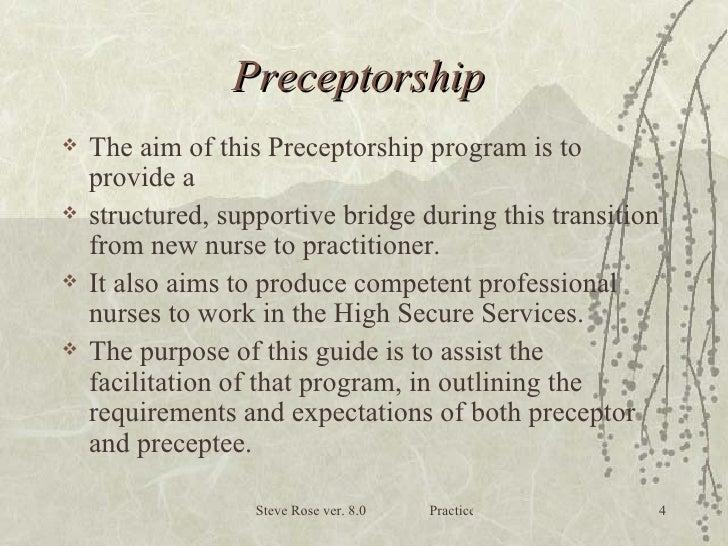Nursing guide to preceptorship