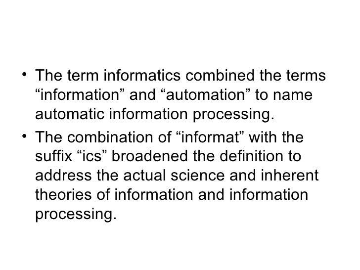 nursing and informatics theoretical ideas