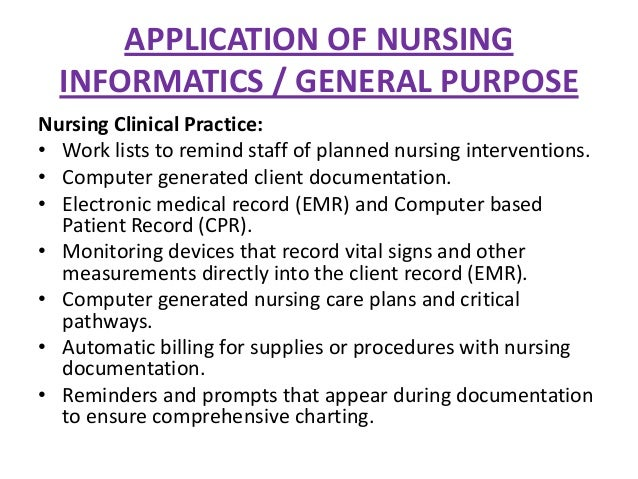 nursing informatics 2 essay If you are interested in pursuing a career in the field of nursing, you should know that the field of nursing informatics may be right for you.