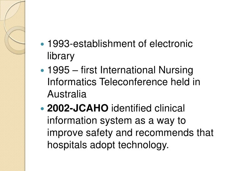 nursing research and informatics Designed to advance the status nursing informatics  provides the direction for  nursing informatics research, but also the focus for computer-based nursing.