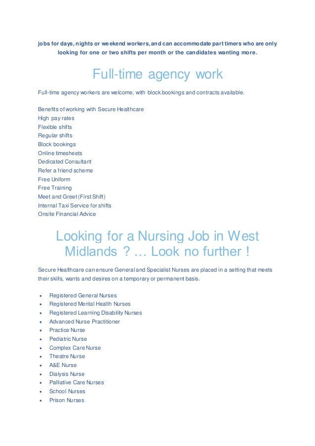 Nursing Agency Jobs And Career Opportunities In West Midlands Northa