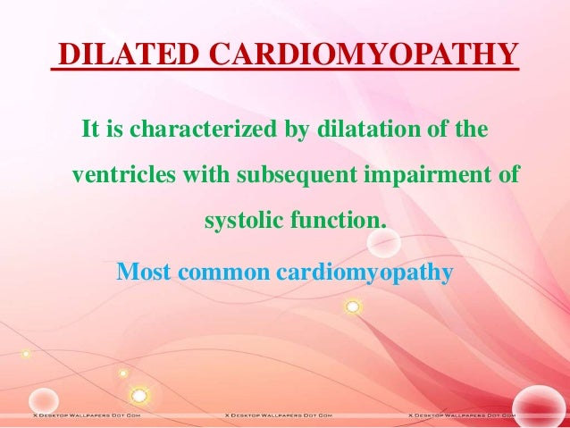 Nursing management of a patient with cardiomyopathy