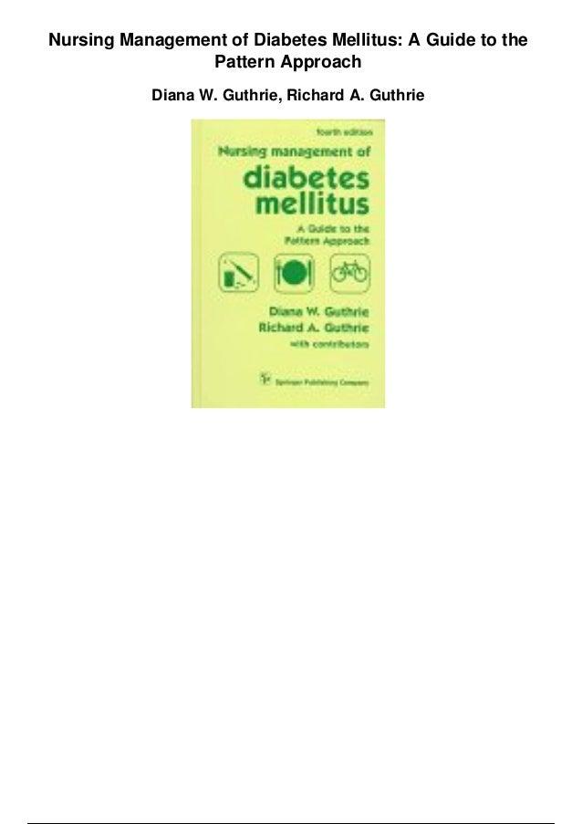 Nursing management of diabetes mellitus a guide to the