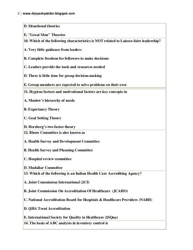 Nursing management quiz