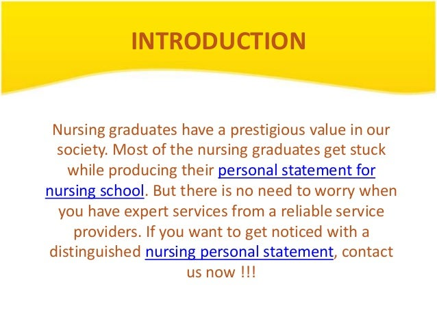 Nursing personal statement rcn customer