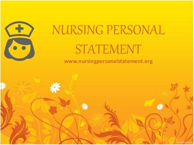 personal statement nursing