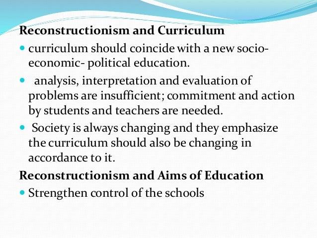 social reconstructinism an effective philosophy essay