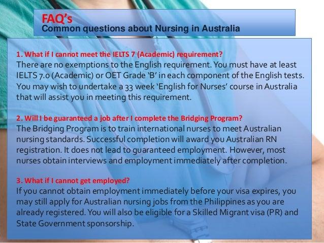 NURSING IN AUSTRALIA- Registration and Employment for
