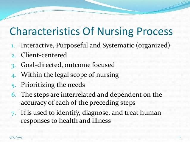 characteristics of nursing profession ppt Nursing process