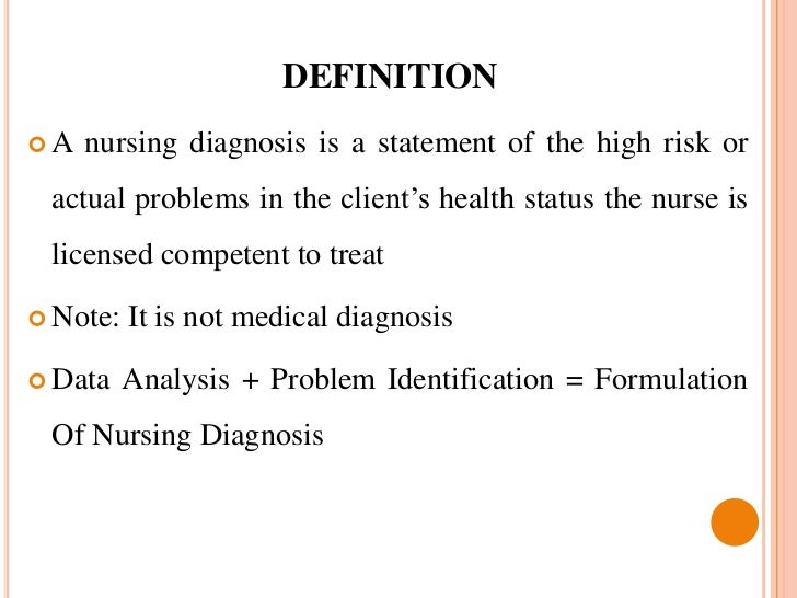 Definition of nursing