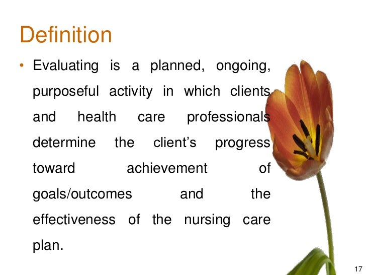 Nursing Process Implementing And Evaluating