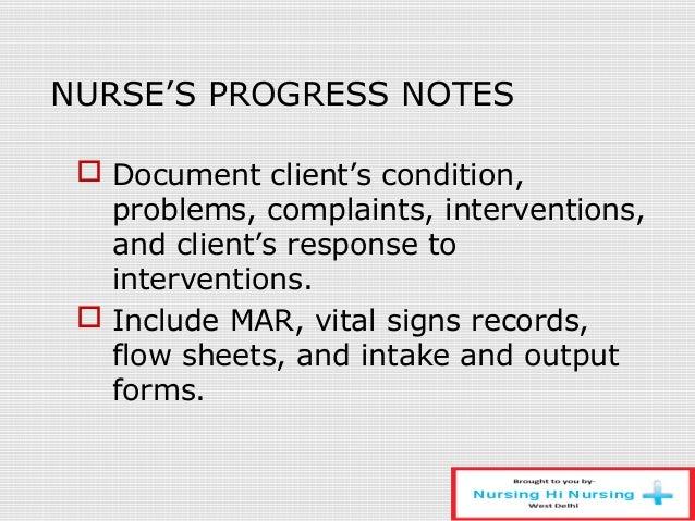 sample nursing progress notes - Maddenrecall
