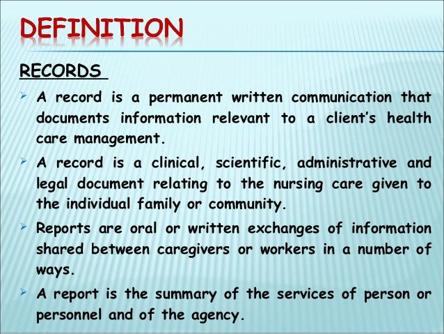 definition of records management Electronic medical record patient access to health records, disease management tools, and health information resources computerized administration processes.