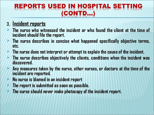 Nursing records & reports