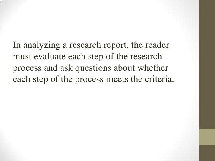 nursing research report