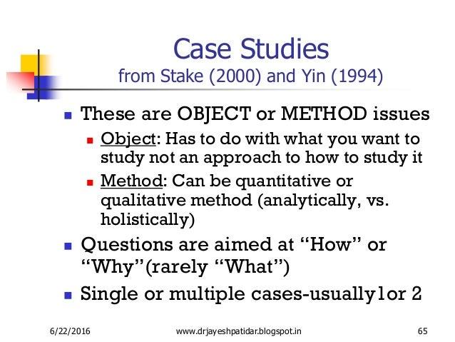 case study yin stake
