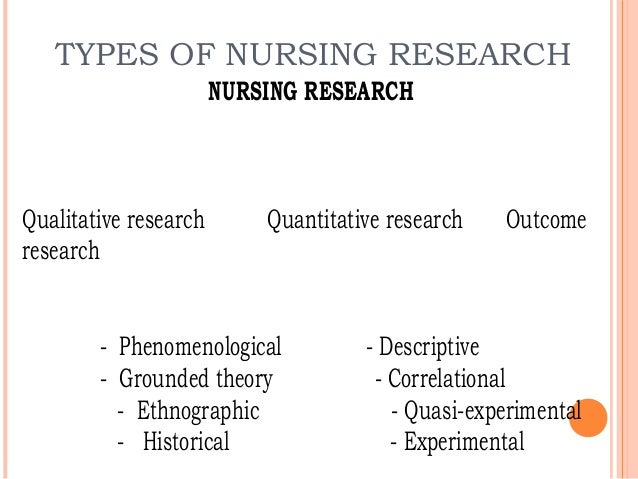 forms of quantitative research