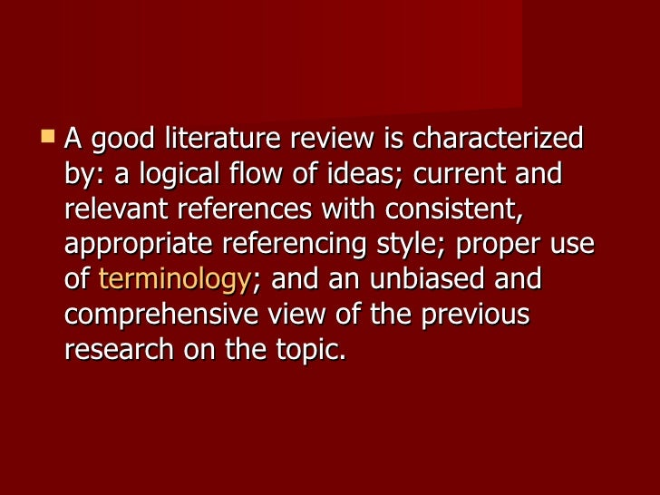 good literature review questions The literature of a literature review refers to any collection of materials on a topic, not necessarily the great literary texts of the world a literature review can be just a simple summary of the sources, but it usually has an organizational pattern and combines both summary and synthesis.
