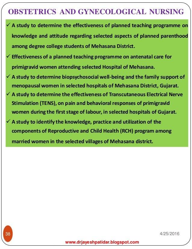 Nursing research statement
