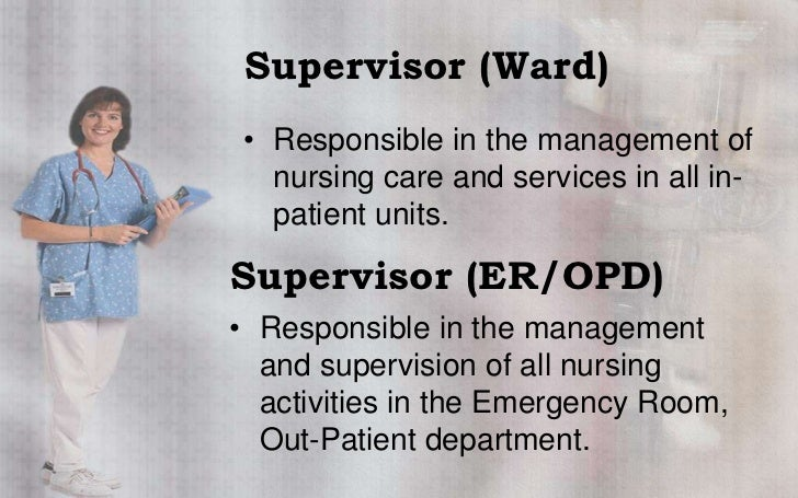 responsibilities of an opd nurse An outpatient nurse resume must include skills in providing initial care,  performing primary duties, and educating patients on types of care to be taken at  home.