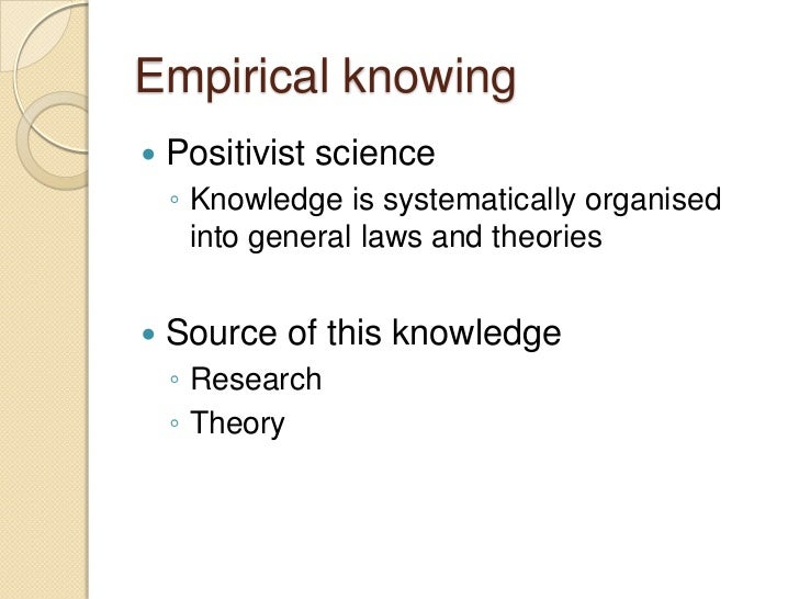 emancipatory knowing
