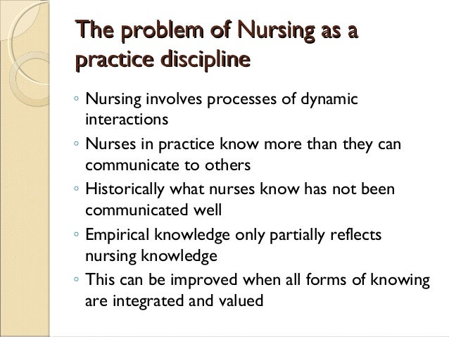 "fundamental patterns knowing in nursing Topic: ways of knowing ""nursing assignment"" this assignment is designed to stimulate intellectual curiosity  fundamental patterns of knowing in nursing."