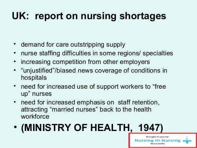 A discussion on the problem of the shortage of nurses