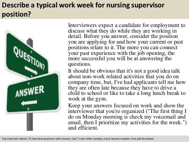 nursing management interview questions