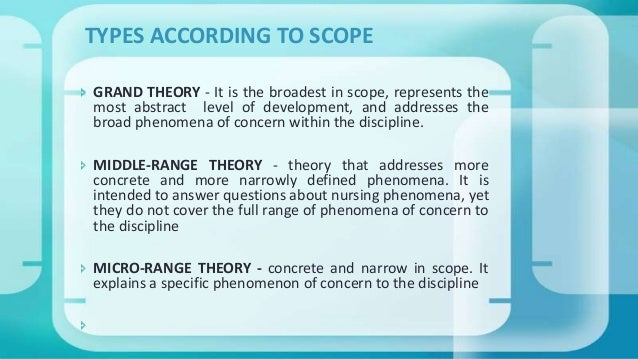 grand theory vs middle range theory