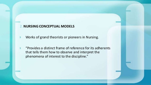 theories of nursing Three theories that guide nurse-family partnership since the nurse-family  partnership concept had its first trial in 1977 with families in elmira, ny, three  ideas.