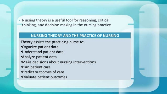 virginia henderson theory of nursing nursing essay Nursing theory web site  virginia henderson's definition of nursing (1966) the unique function of the nurse is to assist the individual, sick or well, in.