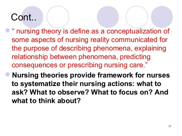 the cycle of nursing theory Research and theory for nursing practice focuses on issues relevant to improving nursing practice, education, and patient care because of its global emphasis, article contributors address the implications of their studies for an international audience.