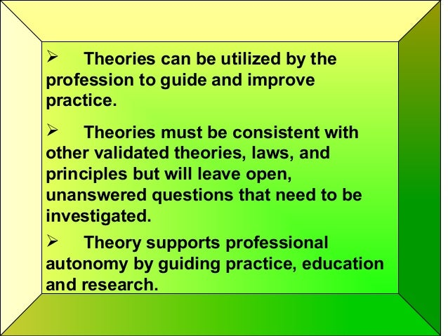 Nursing theory its importance to practice colley