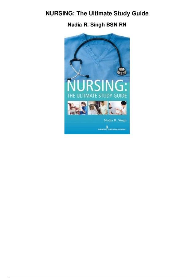 nursing the ultimate study guide pdf rh slideshare net nursing the ultimate study guide pdf Nursing Study Guide Cram Sheet