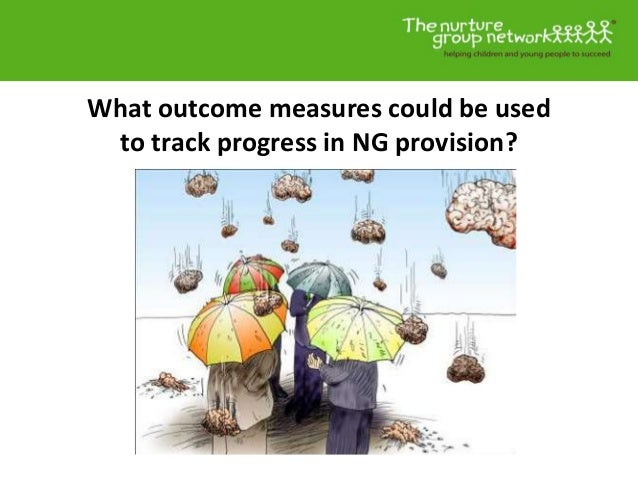 What outcome measures could be used to track progress in NG provision?