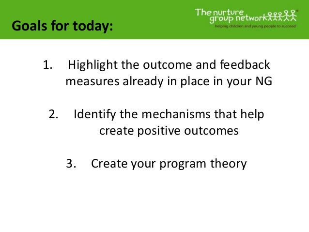 Goals for today: 1. Highlight the outcome and feedback measures already in place in your NG 2. Identify the mechanisms tha...